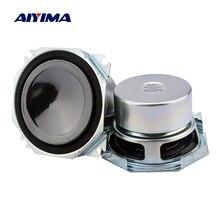 Aiyima 2 pc 3 Polegada alto falantes de gama completa 4 ohm 45 w coluna alto falante de som alto falante áudio diy amplificador de potência em casa teatro