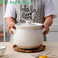 Cazuela de arcilla japonesa de gran capacidad 4L6L10L resistente a altas temperaturas, olla de cerámica