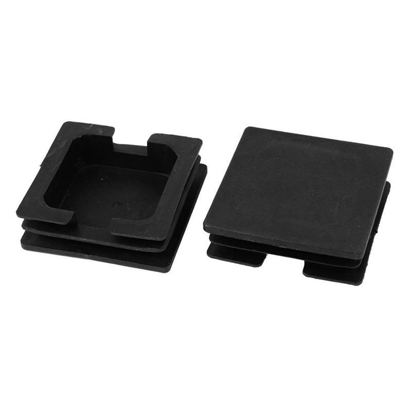 75mm X 75mm Plastic Square Caps Tube Pipe Inserts End Blanking 2 Pcs
