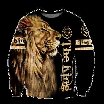 Animal lion 3D Printed Fashion Mens Hoodie Harajuku Streetwear Pullover Autumn Sweatshirt Unisex Casual Jacket Tracksuit DW0160