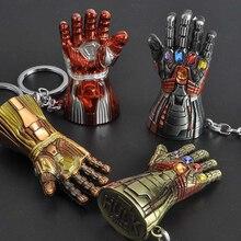 Капитан брелок с героями Marvel Мстители Брелки Тор Брелок для ключей в форме молотка Халк Бесконечность гаунтлет брелок Железный человек металлический брелок