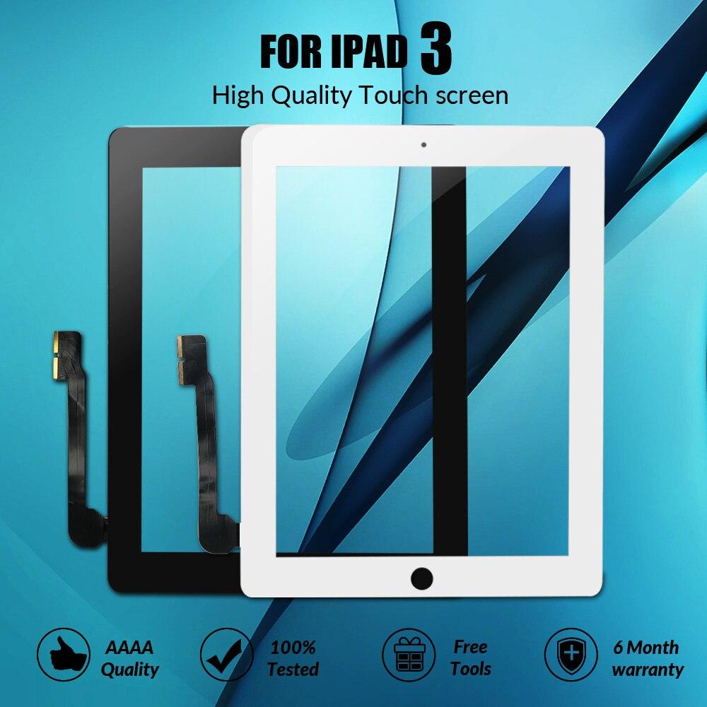 Сенсорный экран для iPad 3 A1416 A1430 A1403 сенсорный экран замена дигитайзер Сенсорная стеклянная панель для нового iPad LCD Внешний