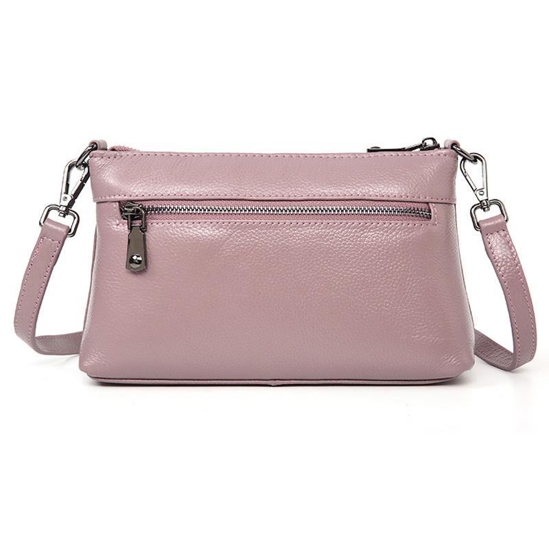 Aodux 2019 NEW Small Summer 100% Genuine Leather Cowhide Women Long Strap Shoulder Bags Female Handbag Lady Messenger Bag Purse - 3