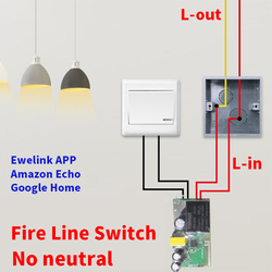 EWeLink 90-240V No Neutral Wire DIY Single Fire Switch Smart Home Improvement Automation Control Module Work With Alexa Google