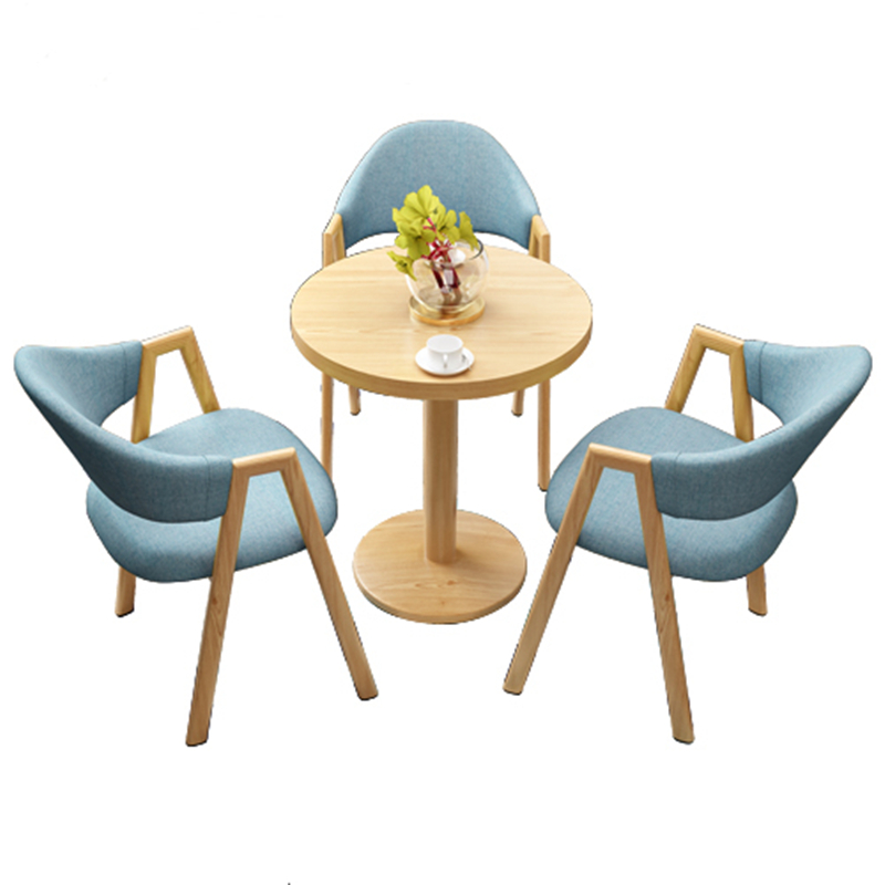 Simple Discussion Tables And Chairs Tea Coffee Shop 4S Shop Office Leisure Round Reception Table Square Table