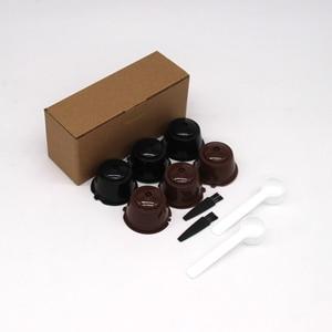 Image 4 - 6 pezzi adatti per filtri per Capsule di caffè riutilizzabili con tazza di filtro per caffè Dolce Gusto per Nespresso con accessori da cucina con spazzola a cucchiaio