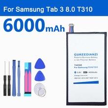 GUKEEDIANZI T4450E 6000 мАч планшет Батарея для samsung GALAXY Tab 3 8,0 T310 T311 T315 SM-T310 SM-T311 E0288 E0396 Li-Ion Батарея