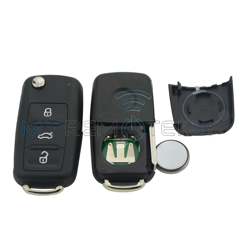 Flip Car Remote Key 202AD за VW Volkswagen Beetle Golf Eos Polo - Авточасти - Снимка 2