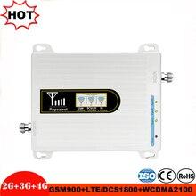 셀룰러 신호 증폭기 GSM 900MHz LTE 1800MHz UMTS 2100MHz 2G 3G 4G 트라이 밴드 리피터 모바일 핸드폰 신호 부스터