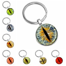 2019 New Best Selling Hell Eye Pattern Series Glass Cabochon Keychain Men's and Women's Fashion Accessories Gift(China)
