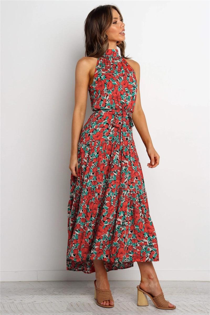 halter midi boho summer dress17