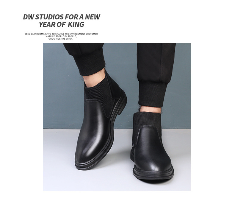 couro de inverno feitos à mão sapatos masculinos 2020 novo