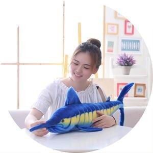 Image 5 - Simulation shark plush toy strip sleeping pillow big white shark children Tricky Creative Toys birthday gift for kids friends