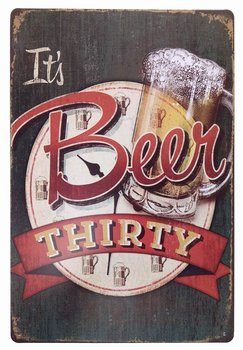 It's Beer Thirty Vintage Funny Home Decor Tin Sign Retro Metal Bar Pub Poster 8 x 12