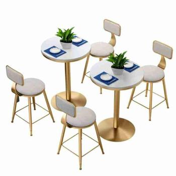 Nordic net red tea shop table and chair combination simple cafe marble    dessert  casual dining   chai