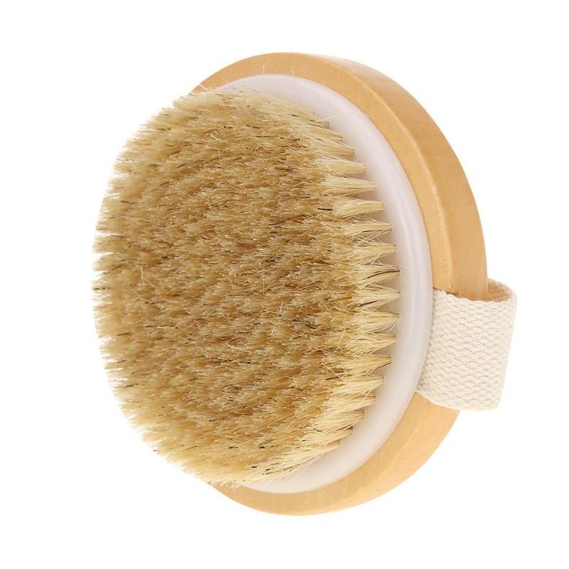 2styles Bath Bomb No Handle Round Bath Bristle Brush Shower Massage Exfoliating Body Brushes Dry Skin Body Soft Natural Bristle