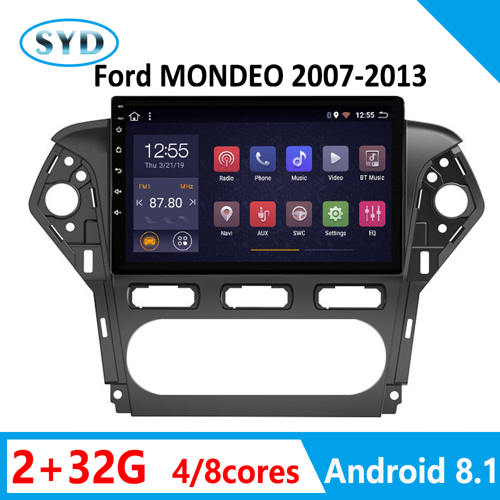 Autoradio Android Car Stereo For Ford MONDEO DVD Multimedia For Auto 2007 2008 2009 2010 2011 2012 2013 Radio Coche 1din SWC 32G