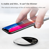 Baseus Qi Wireless Charger For iPhone 12 Pro 10W Fast Wireless Charger Visible Charger Pad For Samsung Mobile Phone Charger