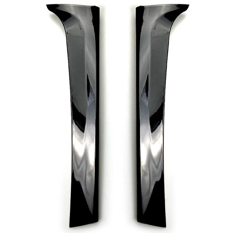 Back Window Rear Spoiler Side Wing Splitter Trim for Tiguan MK2 2017 2018 Gloss Black 2Pcs