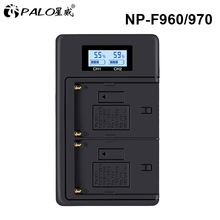 PALO NP-F960 NP-F970 NPF960 NPF970 LCD battery charger for SONY F930 F950 F770 F570 CCD-RV100 NP-F550 NP-F770 NP-F750 F960 F970