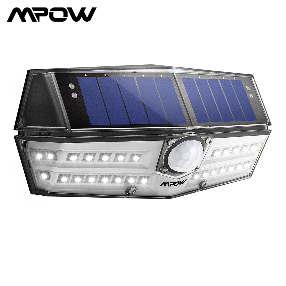 Mpow CD137 30 LED Solar Lights Garden Outdoor IPX7 Waterproof Motion Sensor Light 120 Wide-angle Wall Lampe Solaire Exterieur