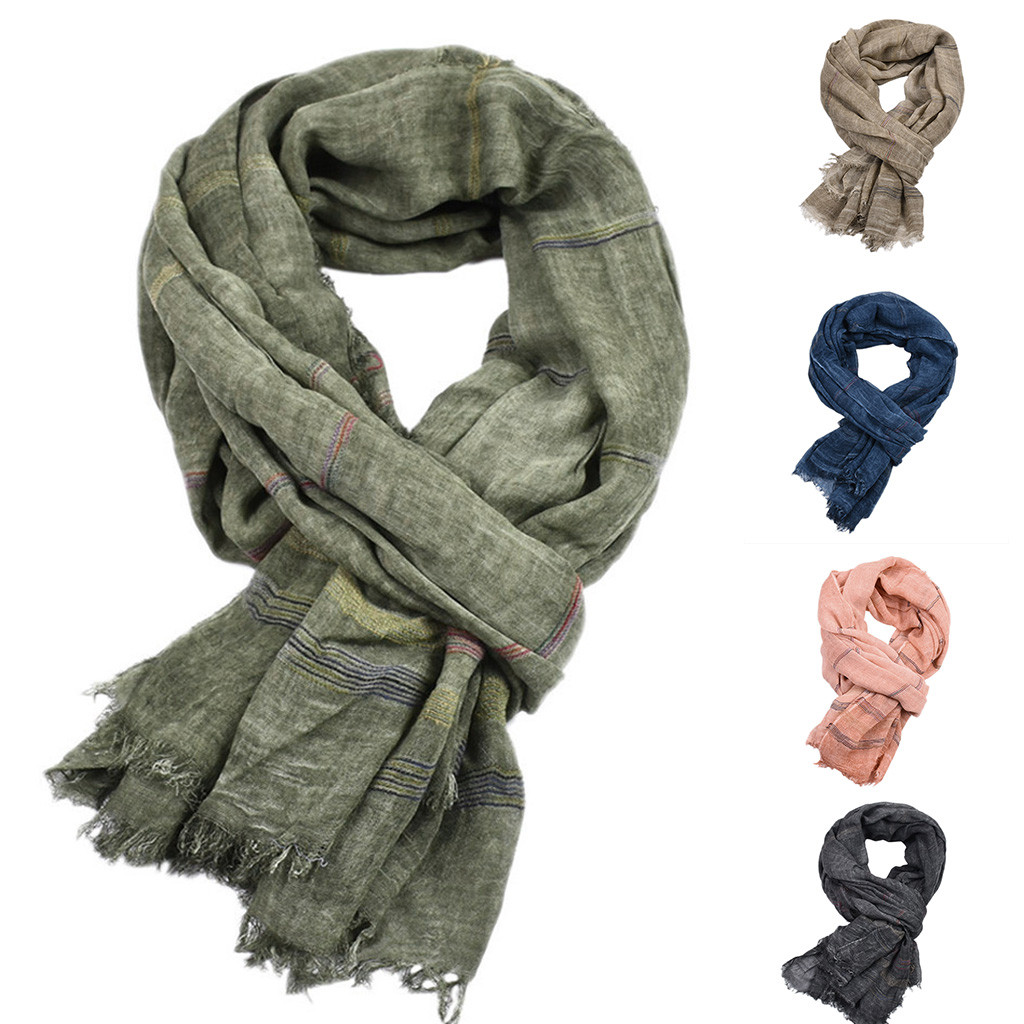 2020 New Autumn Winter Unisex Winter Tassel Scarf Soft Winter Scarves Long Winter Scarves For Men Women Solid Scarves #10