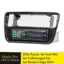 Radio de coche 1 Din Fascia para VW UP, para Seat Mii, Skoda Citigo 2012 + DVD, Adaptador de Audio, Marco, Panel biselado, Kit de tablero de instalación