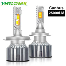 YHKOMS 80W 25000LM Canbus H4 H7 H1 LED Voiture Phare H8 H9 H11 9005 9006 9012 ar Styling Automatique Phare Antibrouillard Ampoules 12V 24V(China)