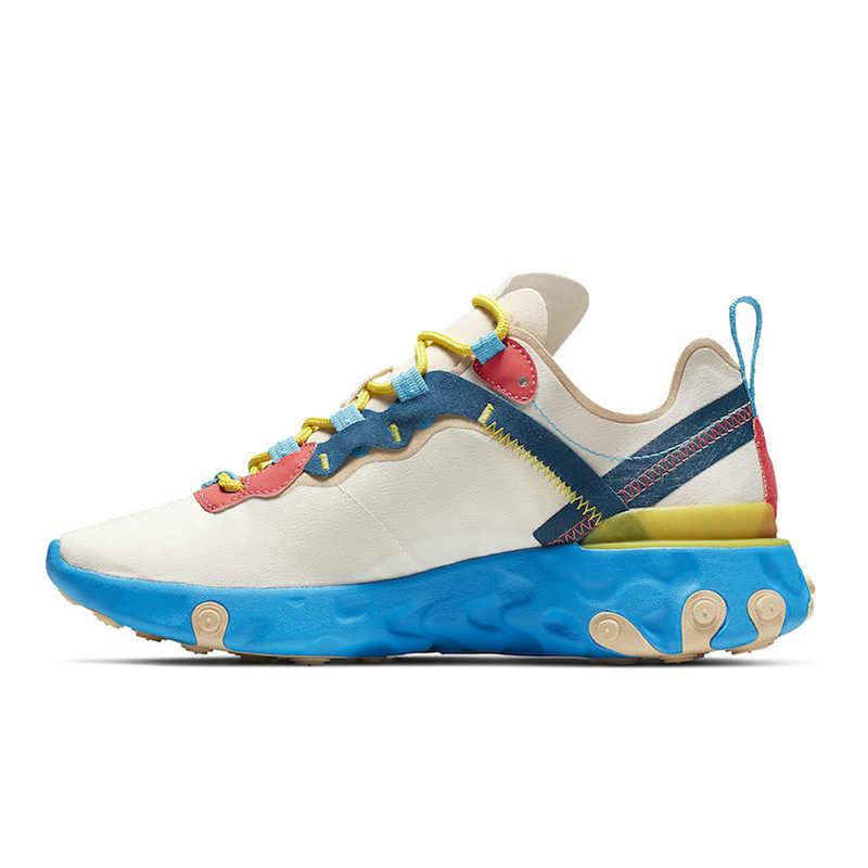Reageren Element 87 55 Loopschoenen Mannen Vrouwen Chaussures Camo Rode Baan Moss Royal Tint Dusty Perzik Mens Trainers Sport sneakers