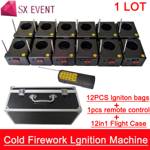 Remote 9V Fireworks Machine Spark Fountain Cold Pyrotechnics Effects for Wedding Event Show Sparklers(China)