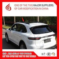 Gorąca sprzedaż naklejki ze stopu Aluminium zainstalować drążek boczny bagażnik dachowy samochodu dla Cayenne 2018