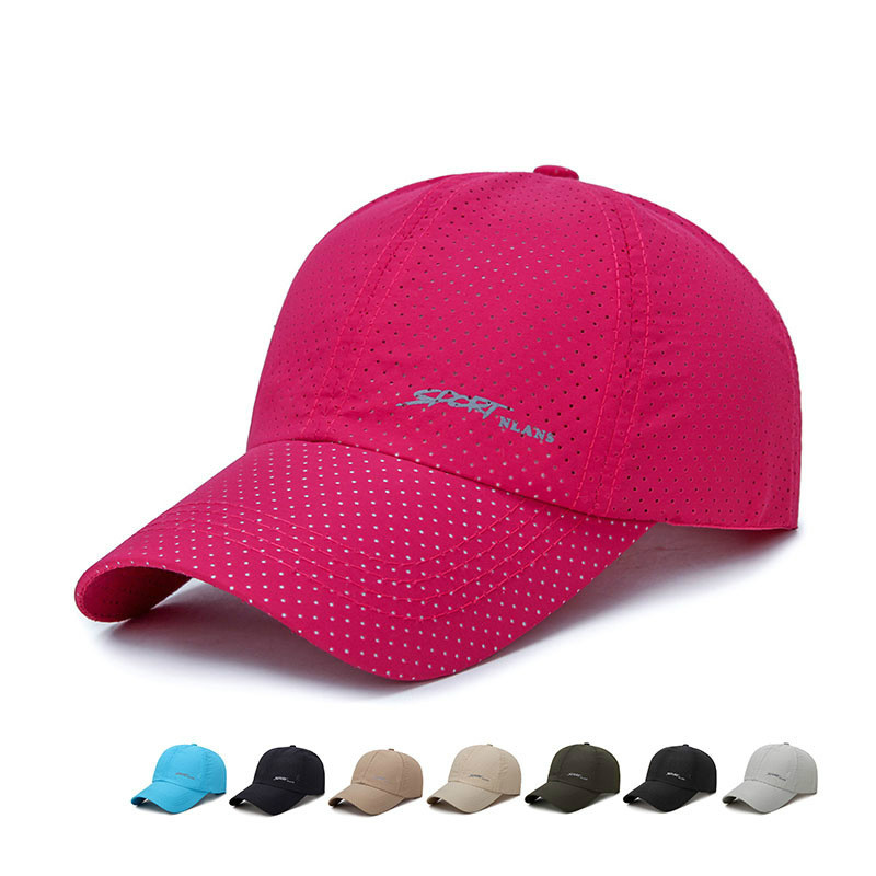 2020 Ultra-thin Solid Color Cap Quick-drying Fabric Summer Breathable Cap Women Men Quick Dry Mesh Sun Hat Running Bone Hats