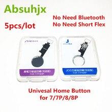 Absuhjx 5 قطعة 4nd العالمي الرئيسية زر فليكس كابل آيفون 7 8 Plus 4 الجنرال القائمة لوحة المفاتيح العودة على قبالة فوكتيون الحل أجزاء