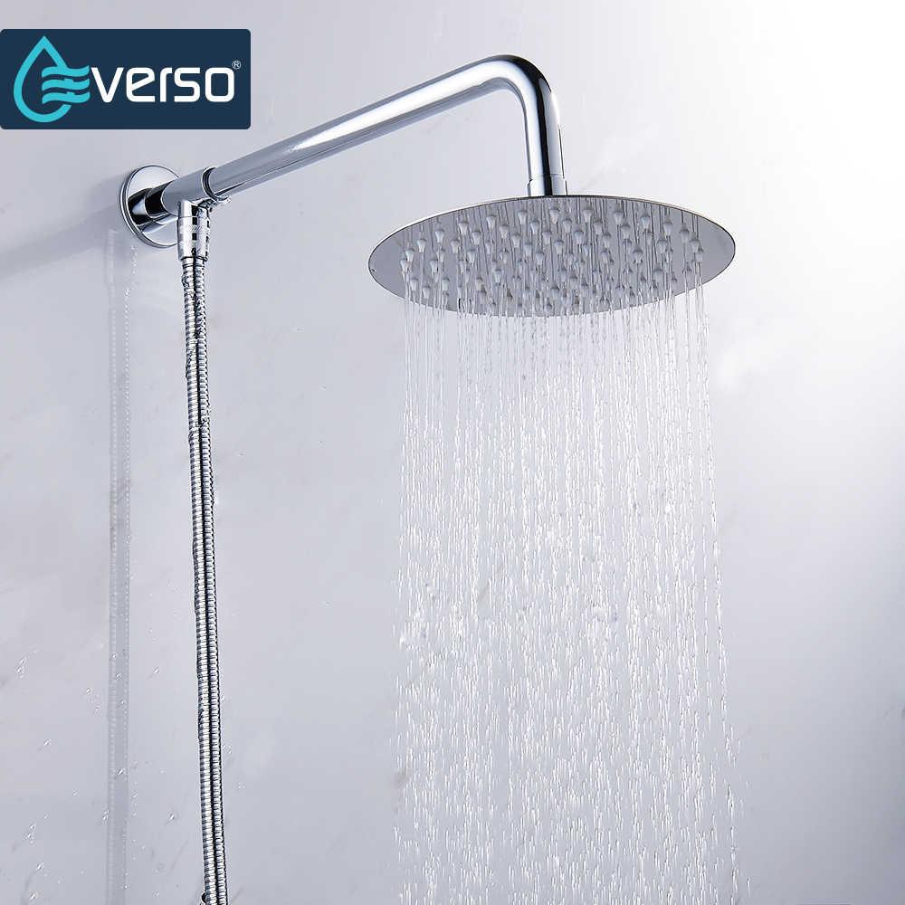 Okrągły i kwadratowy prysznica ze stali nierdzewnej opady deszczu głowica prysznicowa deszczownica chrom wysokiego ciśnienia chuveiro kran do wanny ducha