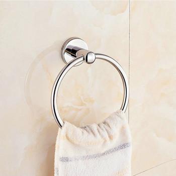 Gorący bubel nowe pierścienie ręcznikowe ze stali nierdzewnej okrągłe ręczniki łazienkowe uchwyt ścienny wieszaki na ręczniki do kuchni pokój kąpielowy tanie i dobre opinie CN (pochodzenie) STAINLESS STEEL