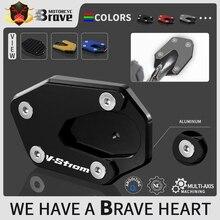 오토바이 사이드 스탠드 enlarger plate For suzuki VStrom 1000 DL1000 1000XT 2014   2019 V Strom 1050 / XT 2019 2020 2021 1050XT