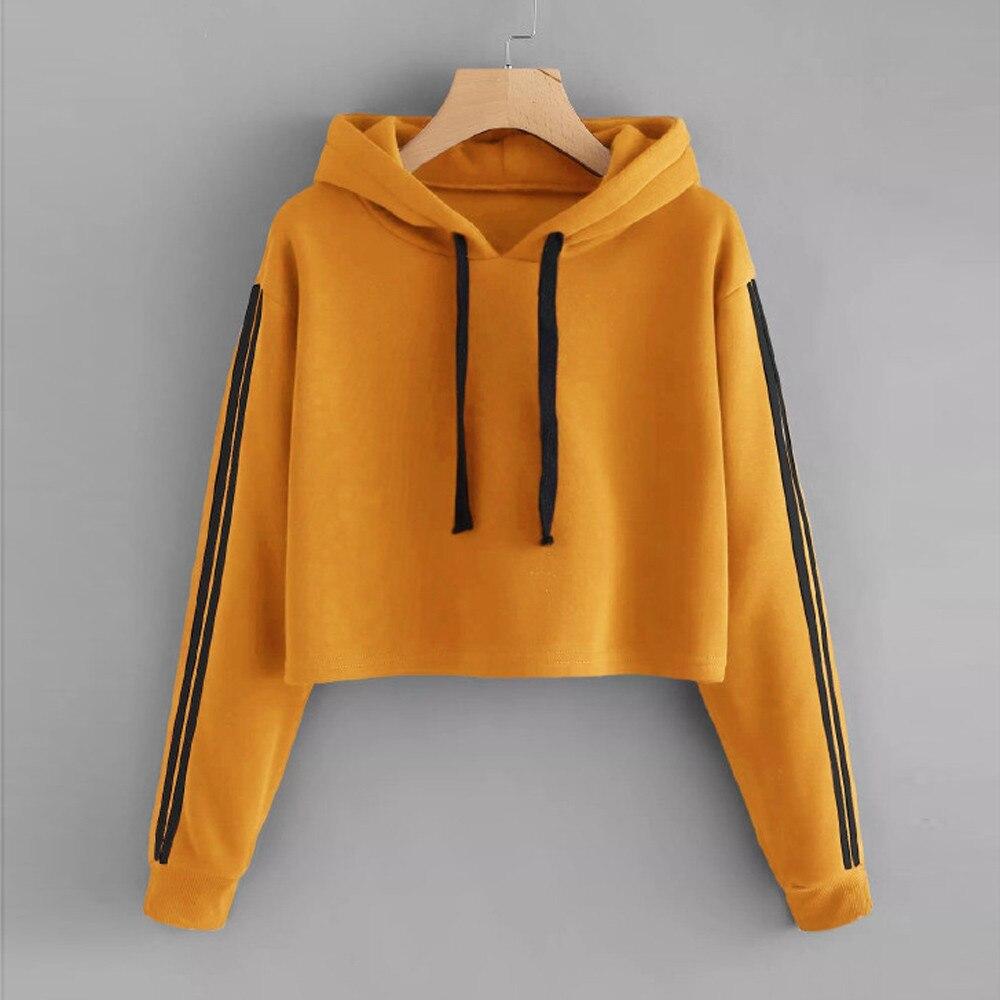 Plus Size Pullover Women Hoodies Striped Solid Casual Pullover Sweatshirt Autumn Winter Full Sleeve Hoodie Blouse Bluza Damska