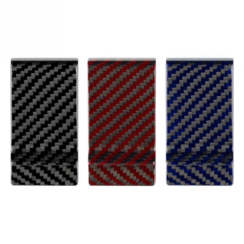 Men Carbon Fiber Money Clip Simple Geometric Patterns Dollar Cash Clamp Holder Wallet For Men Male Card Organizer Money Clip