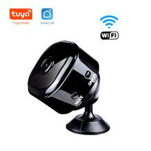 1080P HD Tuya inteligentne Wifi kamera ip sieci bezprzewodowej zdalna kamera kamera monitorująca przenośny Mini kamera samochodowa kamera samochodowa Audio tanie tanio JXXSKY Windows 7 1080 p (full hd) 3 6mm Mini kamery Ip sieci bezprzewodowej Sufit Black CMOS Sharp Odporne na wandalizm