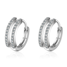Qikaola 2020 New Authentic 925 Sterling Silver Zircon Stud E