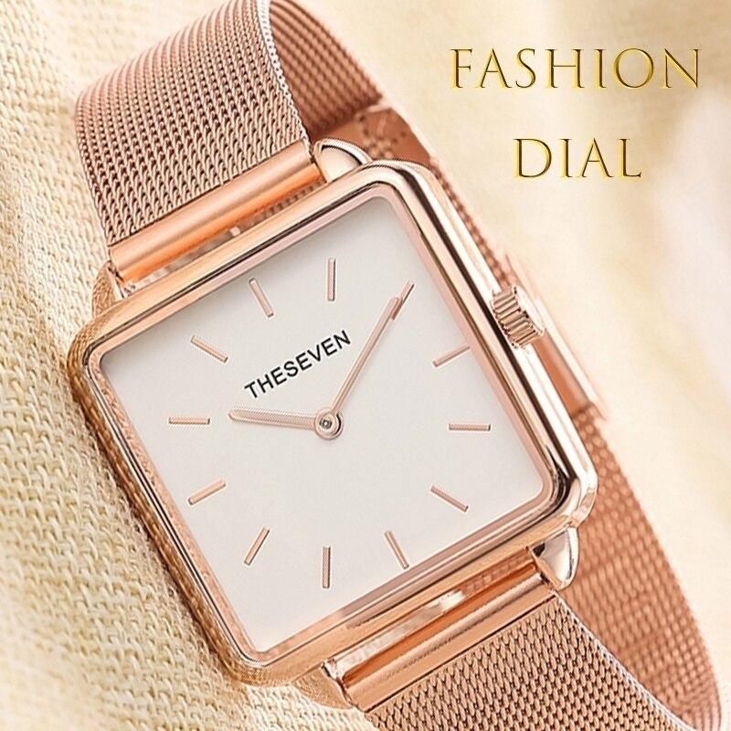 Square Women Quartz Wristwatches Japan Movement Bracelet Ladies Personality Watches Female Gift Clock Reloj Mujer