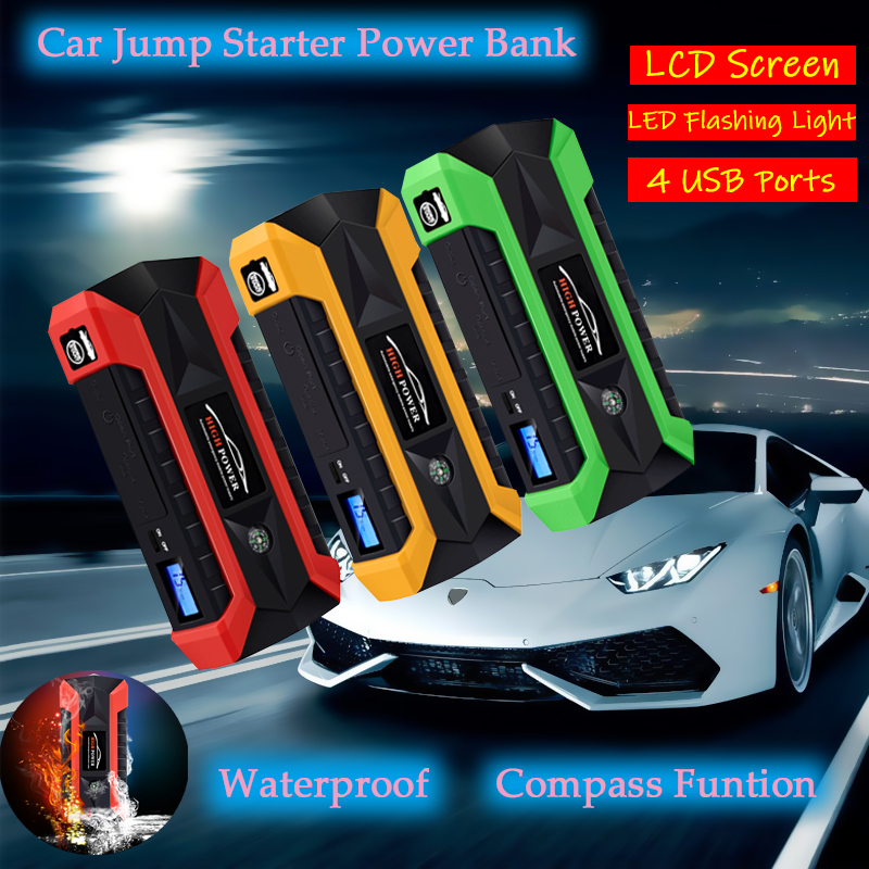 Car Jump Starter Power Bank Lithium Ion Battery 89800mAh Portable Emergency Charger Multi Functional Car Booster Starting Device|Jump Starter| |  - title=