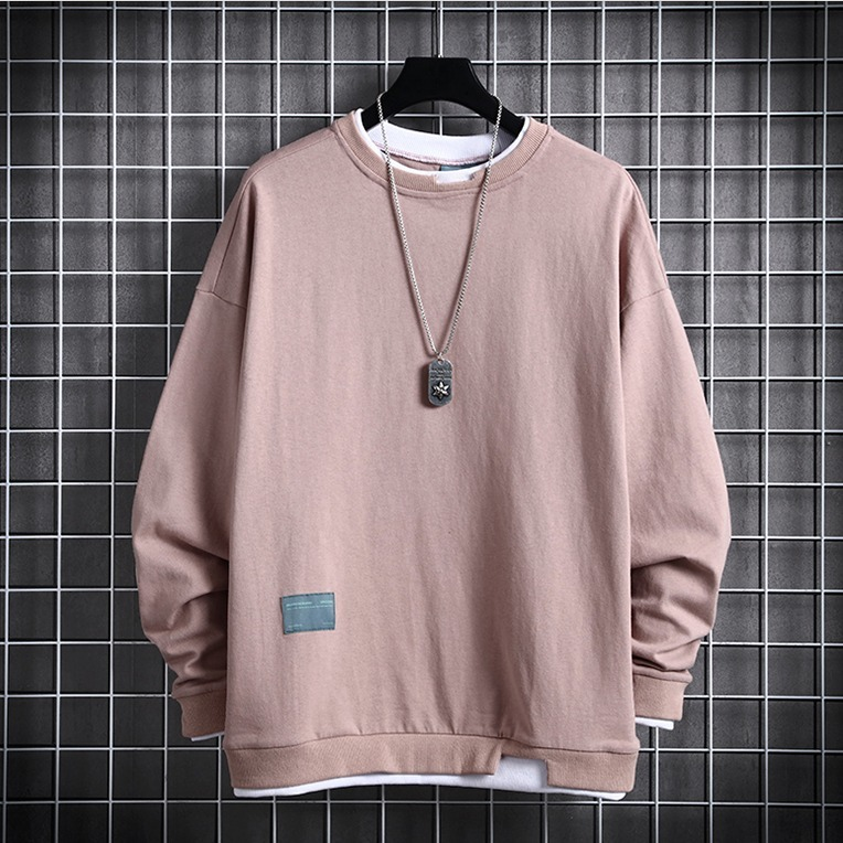 Spring And Autumn 2020 Men's New Leisure Pure Colour Long Sleeve With Loose Temperament