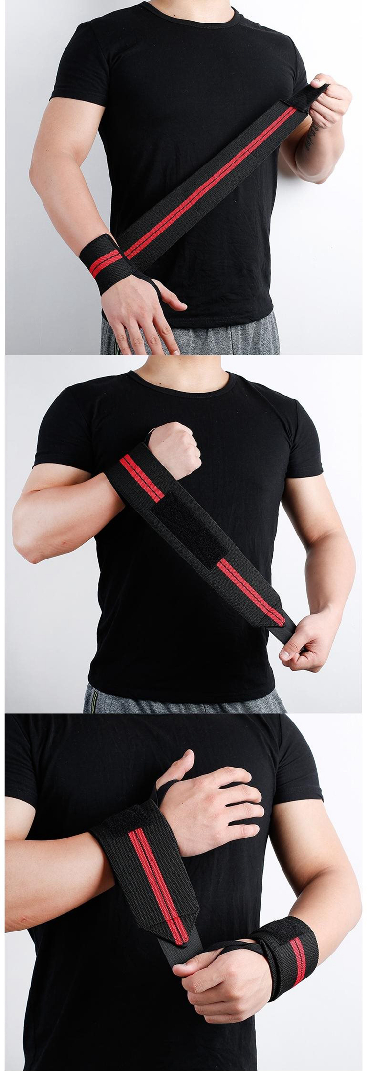 Weight Lifting Strap Fitness Gym Sport Wrist Wrap Bandage Hand Support Wristband (5)