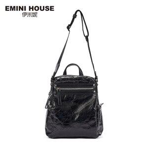 Image 3 - EMINI ev Punk tarzı kadın sırt çantası çoklu giyen yöntemleri kadın omuzdan askili çanta gençler için sırt çantaları kız çocuk okul çantası