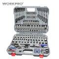 Conjunto de enchufes de PC de WORKPRO 164 conjunto de herramientas mecánicas herramientas de reparación de automóviles destornilladores Kits de herramientas de combinación de trinquete llave hexagonal