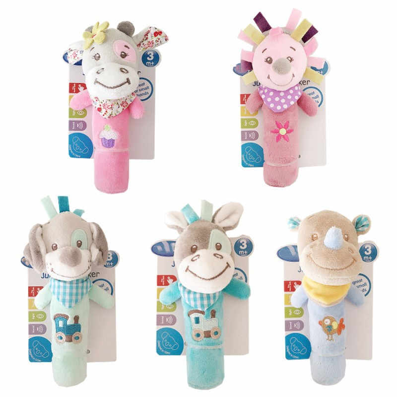 Baby Rattle โทรศัพท์มือถือของเล่นเด็กน่ารักการ์ตูนสัตว์ Rattle Soft เด็กวัยหัดเดิน Oyuncak Plush Bebe ของเล่น 0-12 เดือน