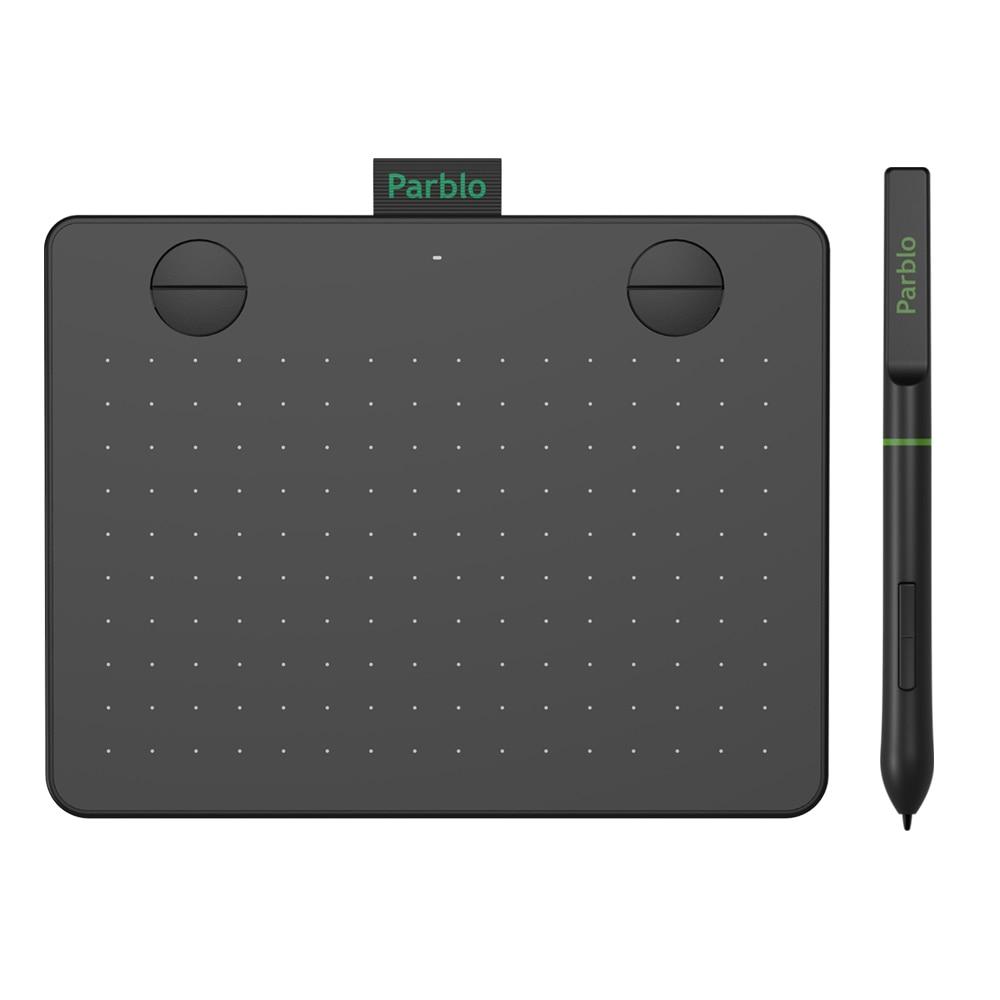 Новое поступление, графический планшет Parblo A640 V2 6*4 дюйма, большая Активная область, профессиональная подпись, USB, графический планшет 8192, без...