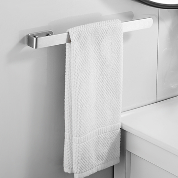 Towel Rail Rack Towel Holder Bathroom Towels Rack Hanger Stainless Steel Wall Hanging Towel Bar Storage Shelf Bathroom Hardware towel holder stainless steel doubel towel bar holder bathroom towel rack hanging holder wall mounted toilet clothes hanger shelf
