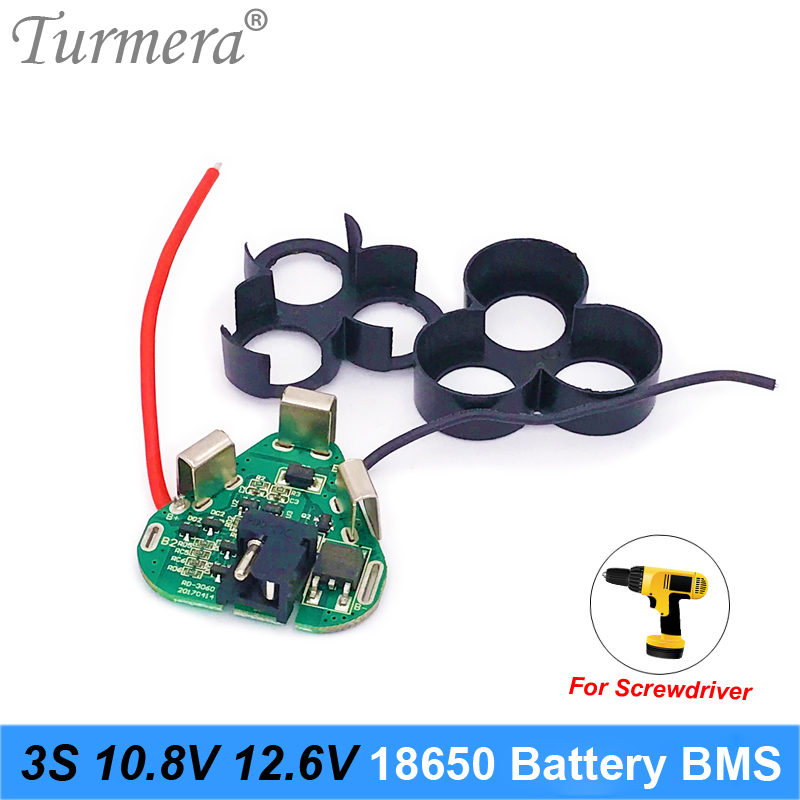 <font><b>3S</b></font> 12.6V 10.8V 18650 Lithium <font><b>Battery</b></font> BMS Protection Board Circuit Module for Screwdriver <font><b>Battery</b></font> 12V <font><b>3s</b></font> <font><b>Packs</b></font> BMS Use Turmera image